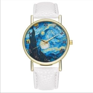 Starry night quartz watch